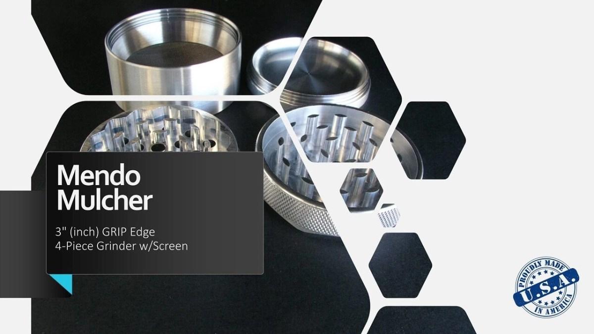 "Mendo Mulcher 3"" (inch) 4-Piece Screened Grinder Facebook"