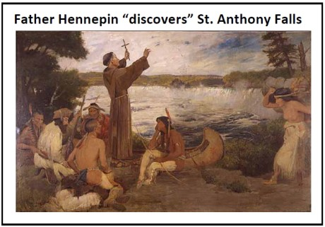 father hennepin discovers st anthony falls mn