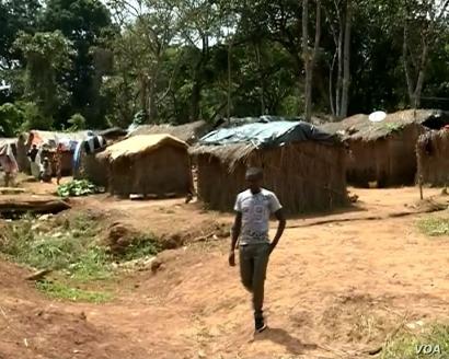 A village settlement near Meiganga, Cameroon. (M. Kindzeka/VOA)