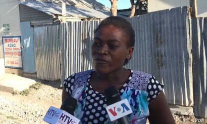 This Taba Isa resident says the government has abandoned them. (Renan Toussaint/VOA Creole)
