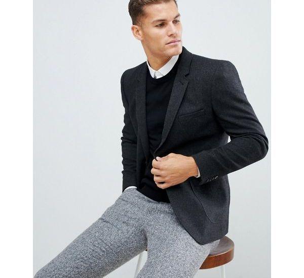 Stylisches Herren Business Outfit in schwarz und grau.