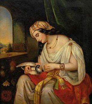 letzte Mohikaner 2. junge Frau mit Taubenpost