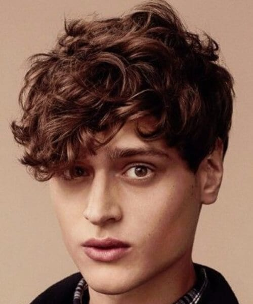High School Short Curly Hairstyles For Men