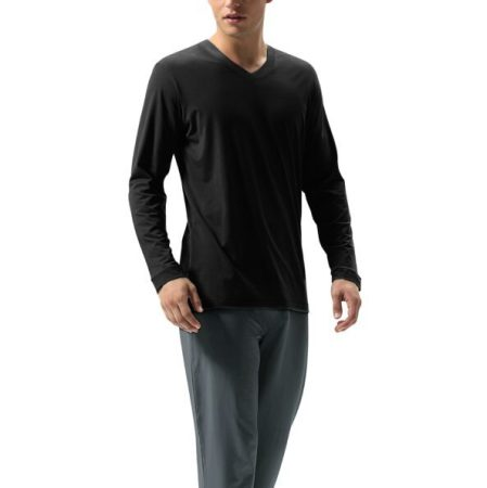 DAVID ARCHY Men's Cotton Long Sleeve Pajama Set