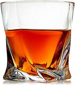 Venero Crystal Whiskey Glasses, Set of 4 Rocks Glasses