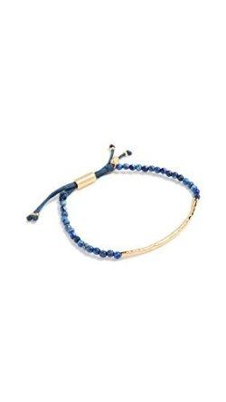 gorjana Power Gemstone Bracelet for Wisdom, Lapis/Gold