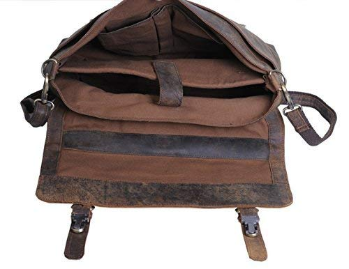 KomalC Buffalo Leather Laptop Messenger Bag
