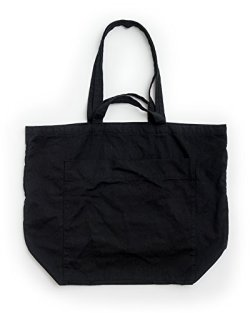 BAGGU Giant Pocket Tote, Oversized Stylish Canvas Bag for Easy Carrying, Black