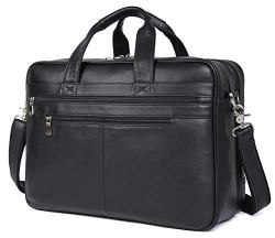 "Polare Leather 17"" Laptop Case Professional Briefcase"