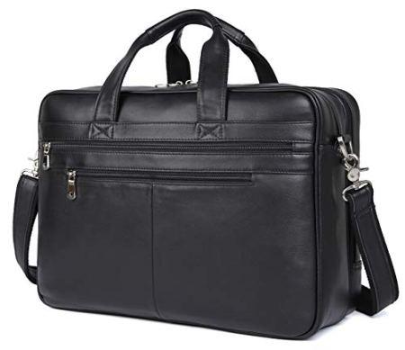 "Polare Leather 17"" Laptop Case Professional Briefcase"