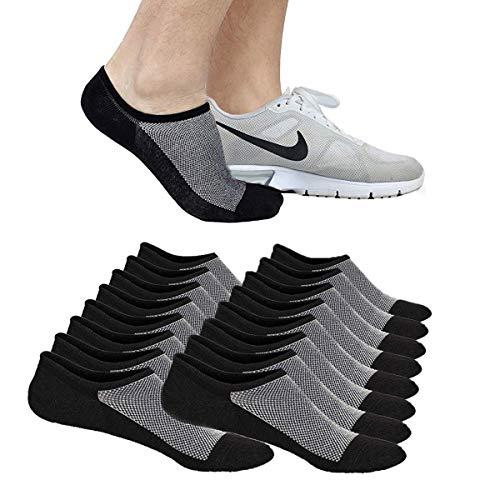 Faustine Men's No Show Socks, 8 Pack