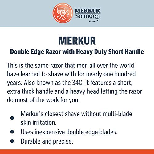 Merkur Double Edge Razor with Heavy Duty Short Handle