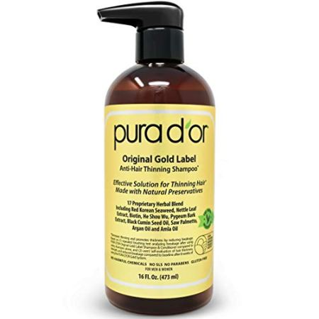 PURA D'OR Original Gold Label Anti-Thinning Biotin Shampoo