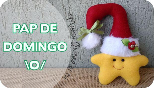 Enfeites de Natal - Estrela para Maçaneta
