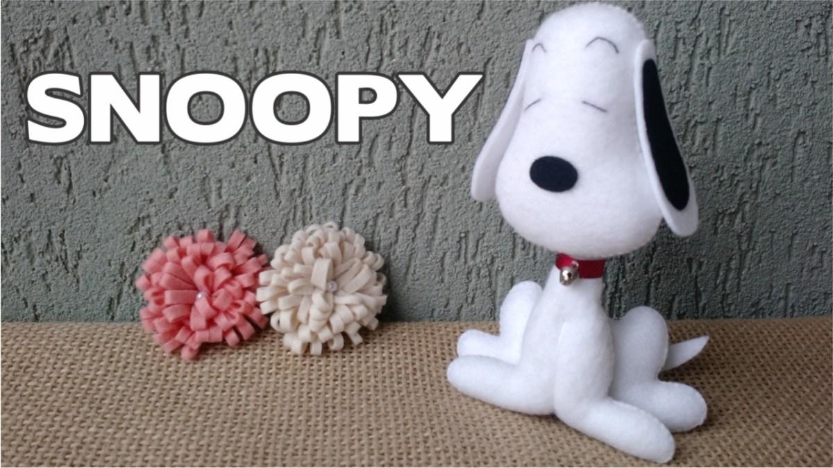 Snoopy de Feltro - Passo a Passo