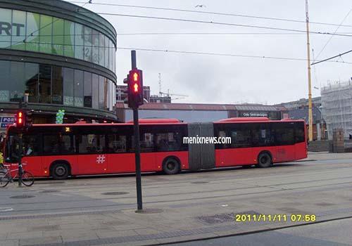 Bus umum yang ada di Oslo.