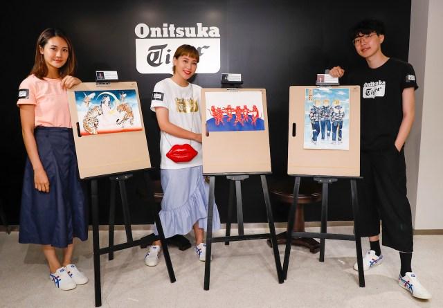 Onitsuka Tiger 是次亦邀得 3 位本地插畫家包括 Yukilovey、Kelly 及 Kazy,以日本文化及品牌標誌性的老虎為創作概念,分別創作 3 幅不同的藝術作品。
