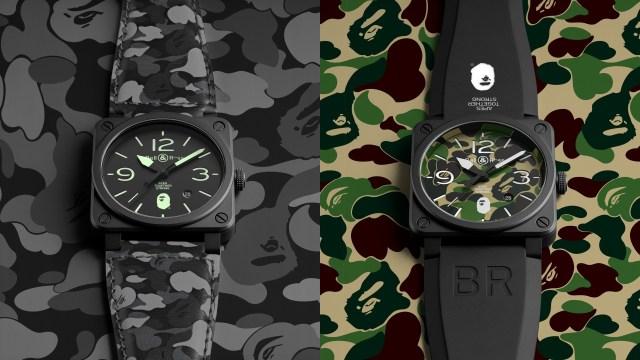 Bell & Ross x BAPE 兩款激限量產品確實非常吸引,但要入手恐怕也是非常之困難! // 定價(左)HKD$34,000(右)HKD$31,000
