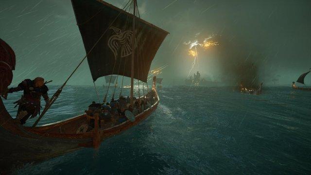 維京人離不開長船,本作一樣有海戰,不過不像四代《黑旗(Black Flag)》般如此有系統,多數情況只是載具而已。