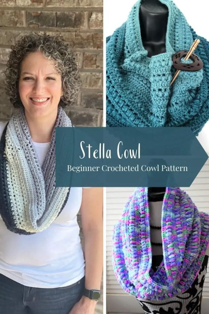 Stella Crocheted Cowl Pattern Pdf Only