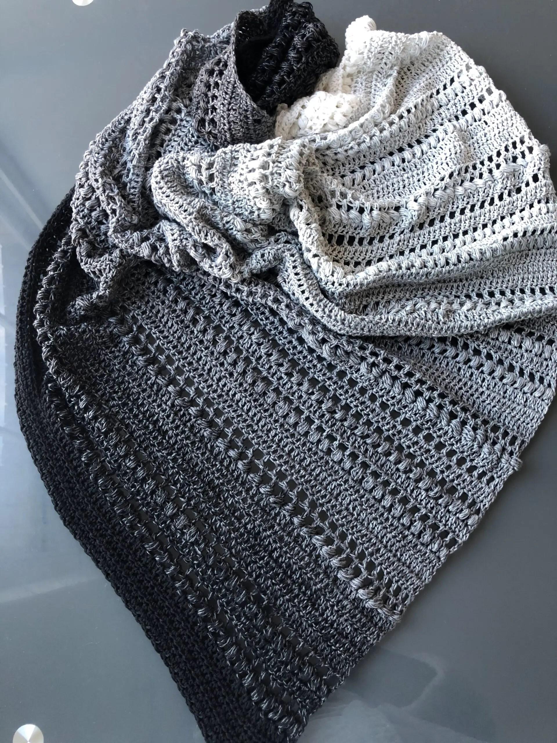 Estella Beginner Friendly Crocheted Shawl Pattern