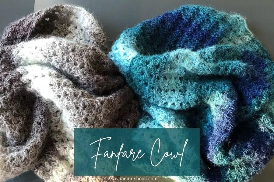 Beginner crochet cowl pattern the fanfare cowl