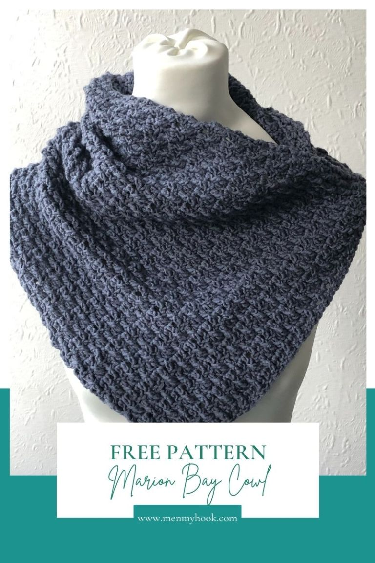 Beginner Textured Cowl - Marian Bay Cowl in Eclipse