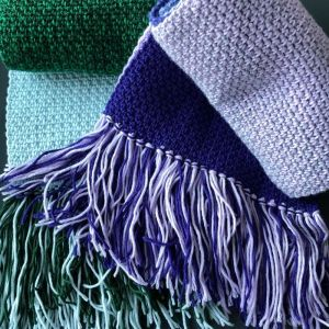 Linen Stitch Scarf Pattern ad free pdf download