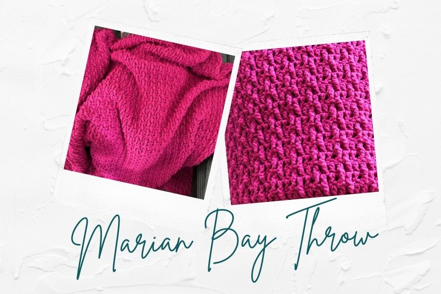 Marian Bay Throw easy chunky throw blanket pattern