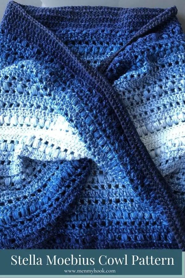 Intermediate level twisted crochet cowl pattern beginner friendly