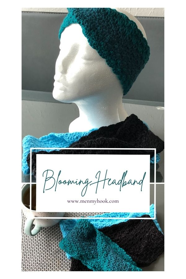 Intermediate Crochet Ear Warmer Pdf Pattern, The Blooming Headband.  Simple, stylish and a quick make, perfect for gifts