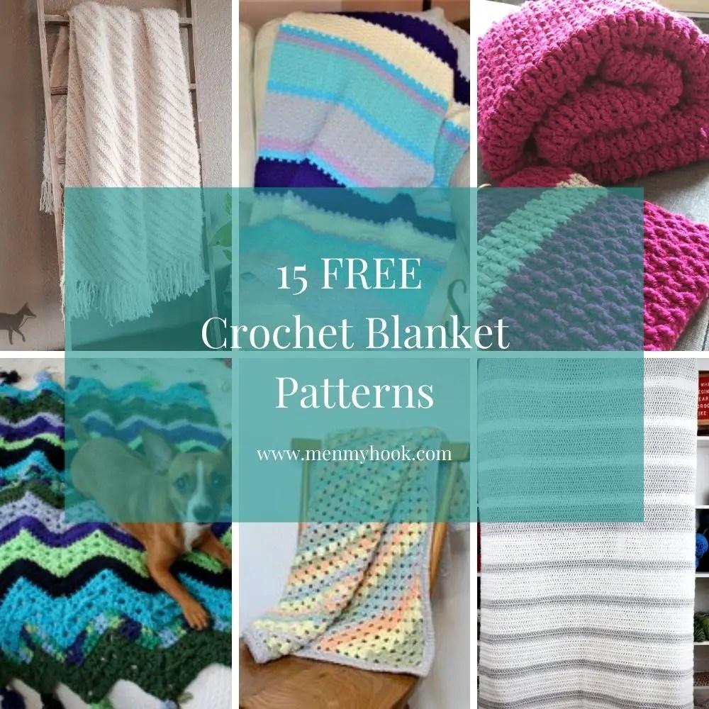 15 FREE Crochet blanket patterns