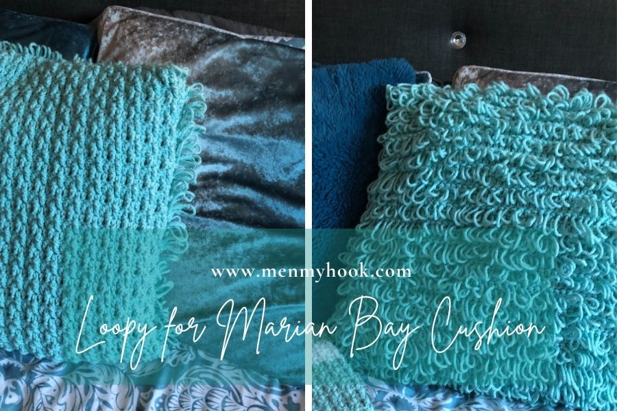 Easy textured crochet cushion cover pattern
