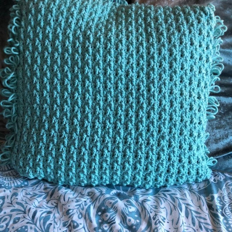 Textured Crochet Cushion Cover – Loopy for Marian Bay Cushion
