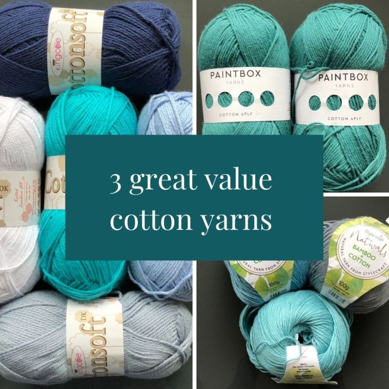 My 3 fav cotton yarns to crochet with