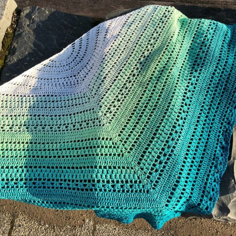 Crochet Triangle Shawl Pattern – Lena Shawl