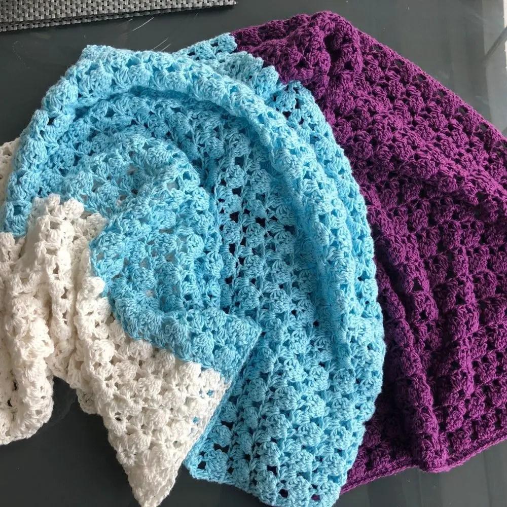 Easy crochet rectangle shawl pattern - Simone Wrap digital download pdf available