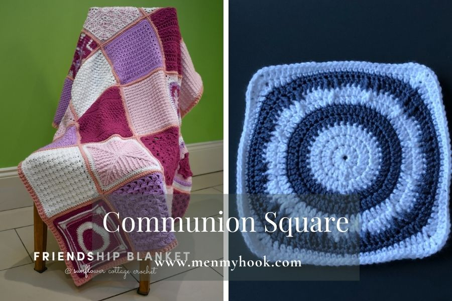 Easy Solid Granny Square Pattern - Communion Square