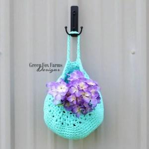 Farmhouse Hanging Basket Crochet Pattern