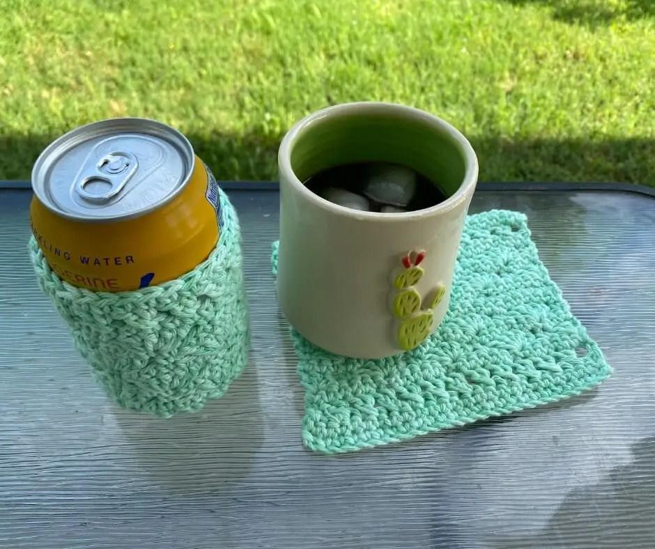 Drinkware Set crochet pattern - Wave Catcher Drinkware Set