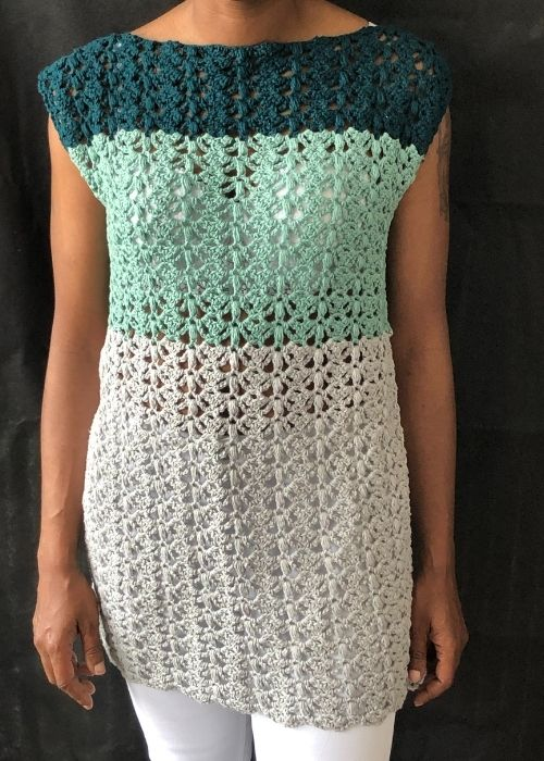 How to make an easy crochet beach cover up – Split Decision Tunic