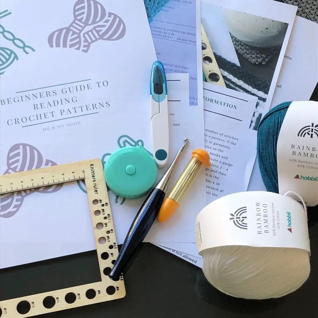 Learn how to read a crochet pattern - written guide pdf download for beginners