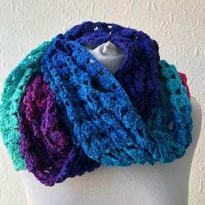 Colette - FREE easy one skein crochet shawl pattern
