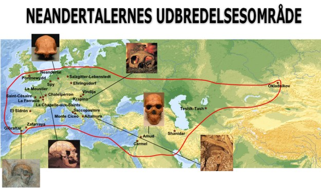 neandertalernes udbredelsesområde