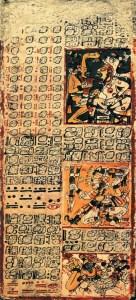 Maya-skrift: Dresden kodex (15. årh. evt.).
