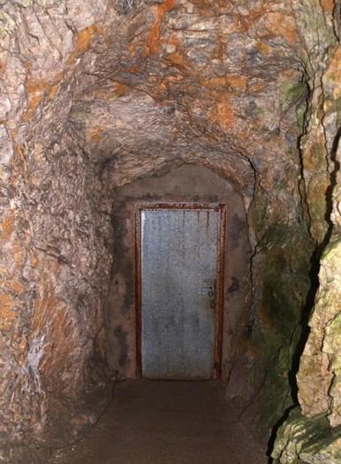 Indgang til grotten