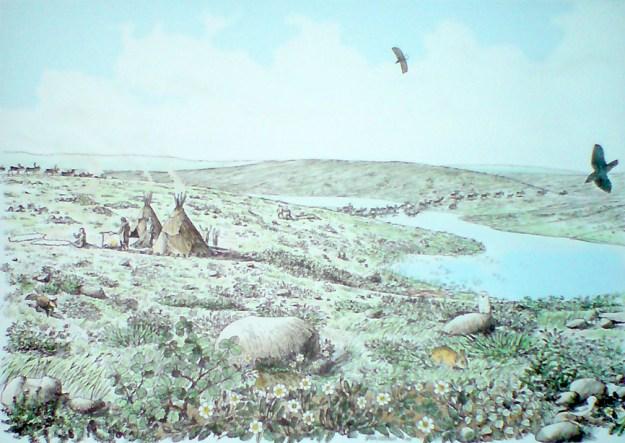Jægerbopladsen ved Jels for 14.000 år siden (Haderslev museum 2008)