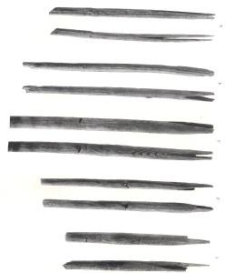Træpile (fra A. Rust, 1943)