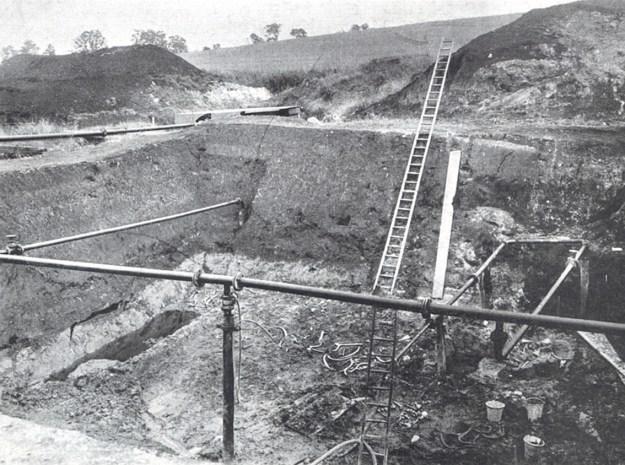 Udgravninger i 1936 ved Stellmoor (fra A. Rust, 1943)