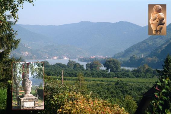 Wachau, udsigt fra Willendorf